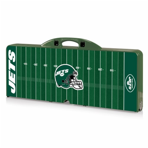 New York Jets - Picnic Table Portable Folding Table with Seats Perspective: front