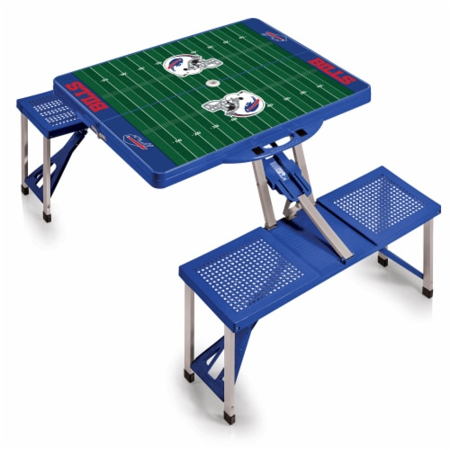 Buffalo Bills - Picnic Table Portable Folding Table with Seats Perspective: front