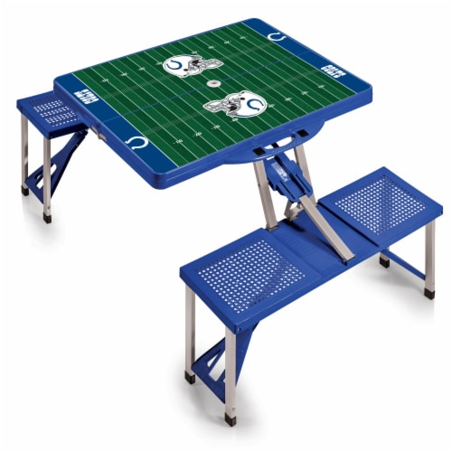 Indianapolis Colts - Picnic Table Portable Folding Table with Seats Perspective: front