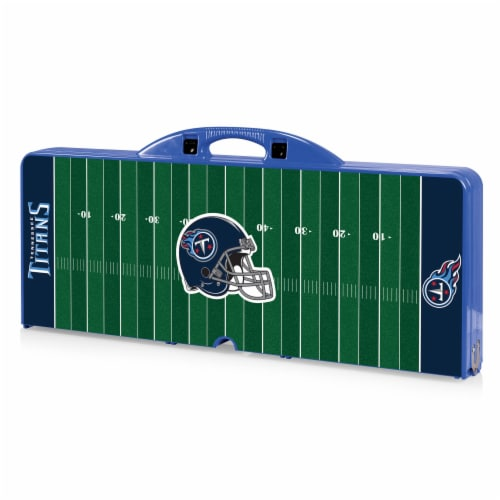 Tennessee Titans - Picnic Table Portable Folding Table with Seats Perspective: front