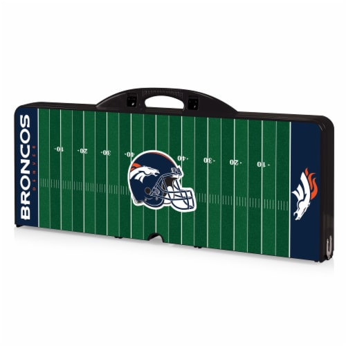 Denver Broncos Portable Picnic Table Perspective: front