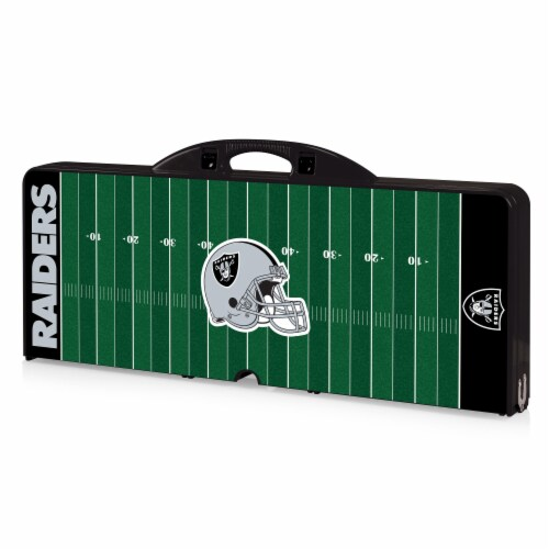 Oakland Raiders Portable Picnic Table Perspective: front