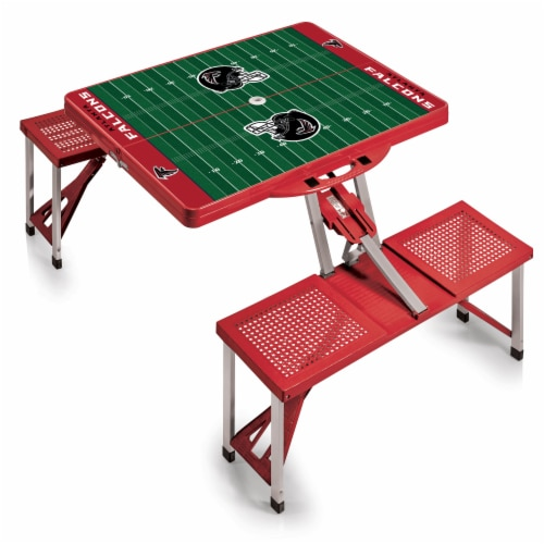 Atlanta Falcons - Picnic Table Portable Folding Table with Seats Perspective: front