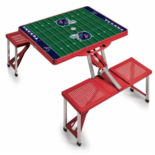 Houston Texans - Picnic Table Portable Folding Table with Seats Perspective: front