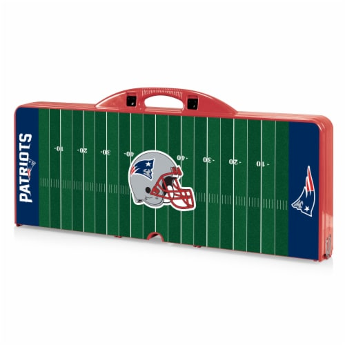 New England Patriots - Picnic Table Portable Folding Table with Seats Perspective: front