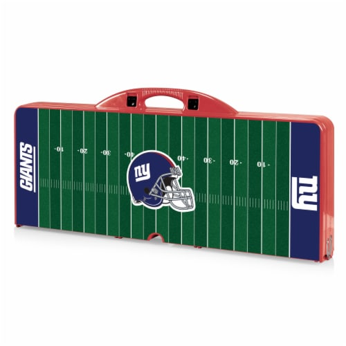 New York Giants Portable Picnic Table Perspective: front