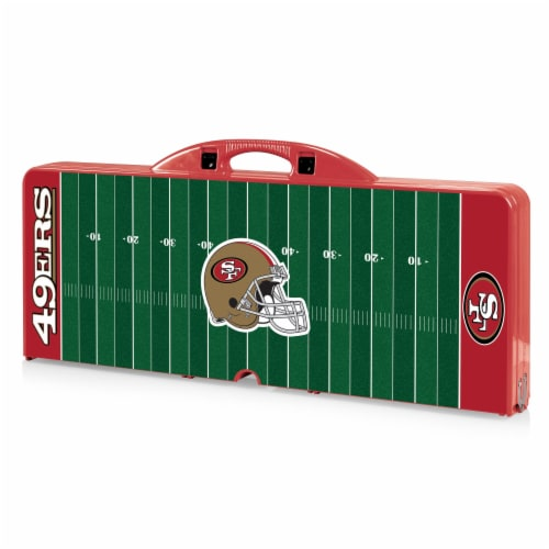 San Francisco 49ers - Picnic Table Portable Folding Table with Seats Perspective: front