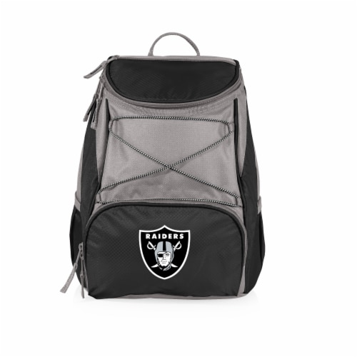 Oakland Raiders  PTX Cooler Backpack - Black Perspective: front