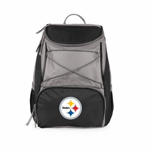 Pittsburgh Steelers PTX Cooler Backpack - Black Perspective: front