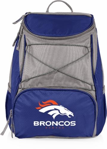 Denver Broncos  PTX Cooler Backpack - Navy Perspective: front