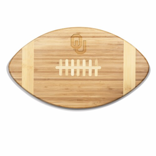 Oklahoma Sooners Touchdown! Football Cutting Board & Serving Tray Perspective: front