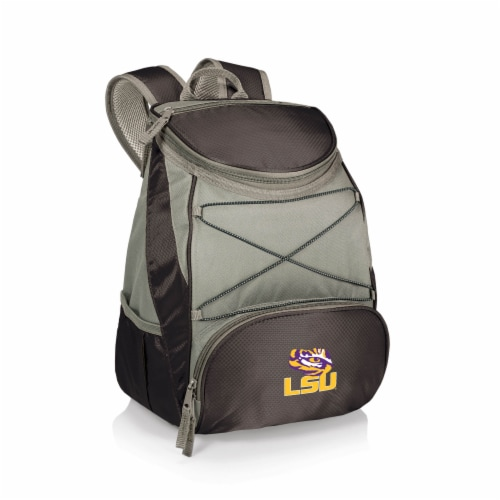 LSU Tigers PTX Cooler Backpack - Black Perspective: front