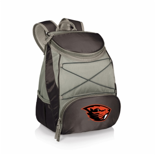 Oregon State Beavers PTX Cooler Backpack - Black Perspective: front