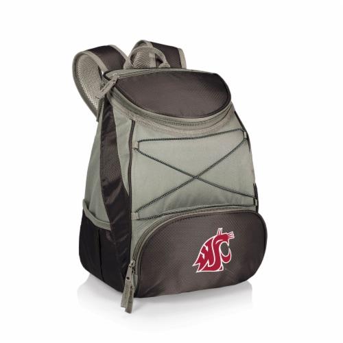 Washington State Cougars PTX Cooler Backpack - Black Perspective: front