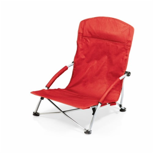 Tranquility Portable Beach Chair, Red Perspective: front