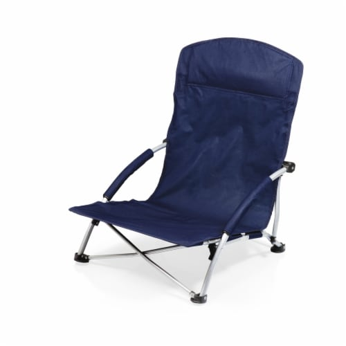 Tranquility Portable Beach Chair, Navy Blue Perspective: front