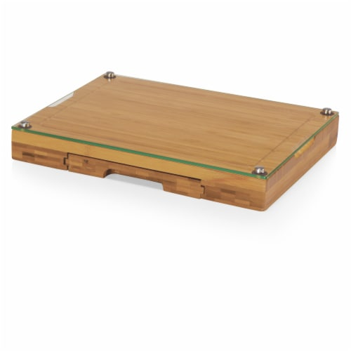 Concerto Glass Top Cheese Cutting Board & Tools Set, Bamboo Perspective: front