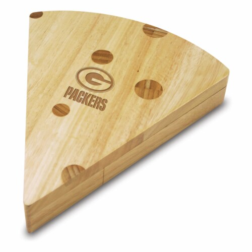Green Bay Packers - Swiss Cheese Cutting Board & Tools Set Perspective: front