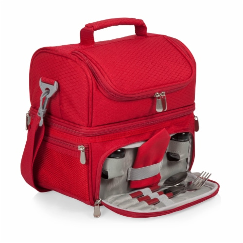 Pranzo Lunch Cooler Bag, Red Perspective: front