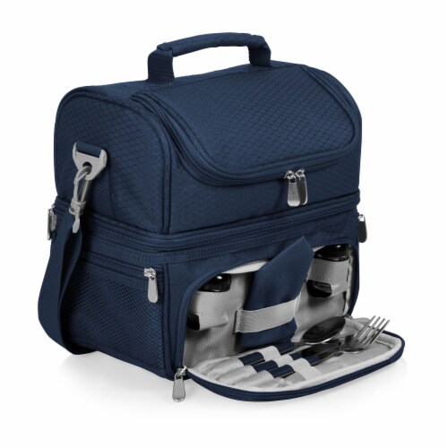 Pranzo Lunch Cooler Bag, Navy Blue Perspective: front
