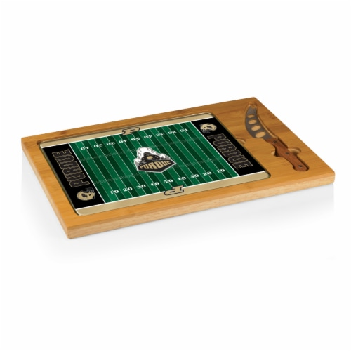 Purdue Boilermakers - Icon Glass Top Cutting Board & Knife Set Perspective: front