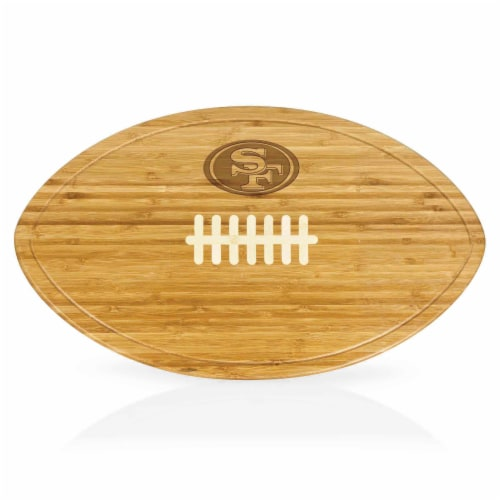San Francisco 49ers - Kickoff Football Cutting Board & Serving Tray Perspective: front