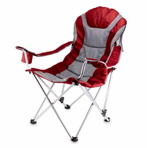 Reclining Camp Chair, Dark Red Perspective: front