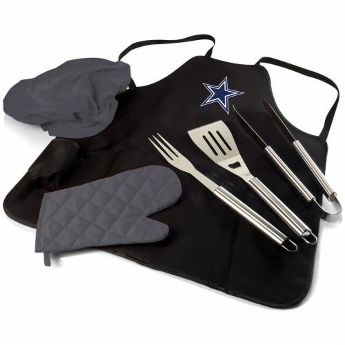 Dallas Cowboys BBQ Apron Tote Pro Set with Tools Perspective: front