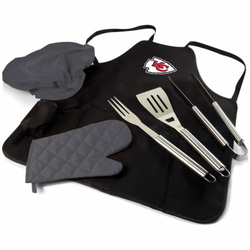 Kansas City Chiefs - BBQ Apron Tote Pro Grill Set Perspective: front