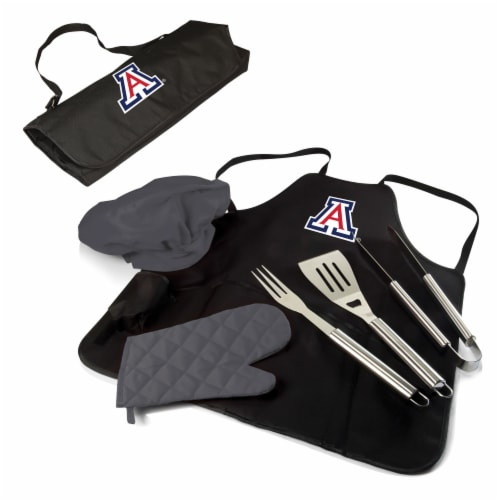 Arizona Wildcats BBQ Apron Tote Pro Set with Tools Perspective: front