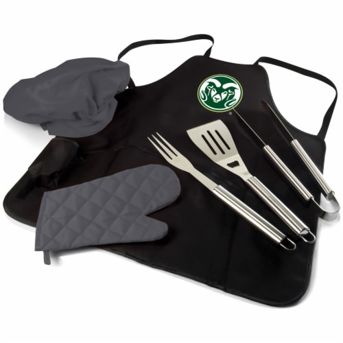 Colorado State Rams - BBQ Apron Tote Pro Grill Set Perspective: front
