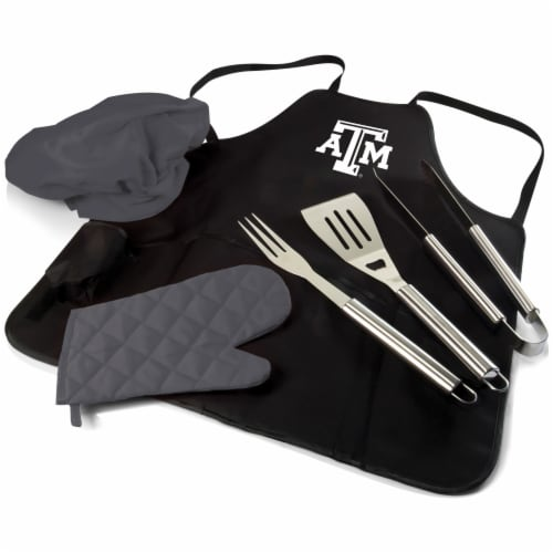 Texas A&M Aggies - BBQ Apron Tote Pro Grill Set Perspective: front