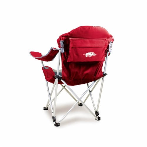 Arkansas Razorbacks - Reclining Camp Chair Perspective: front