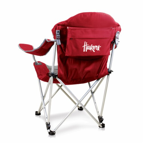 Nebraska Cornhuskers - Reclining Camp Chair Perspective: front
