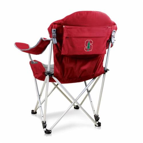 Stanford Cardinal - Reclining Camp Chair Perspective: front