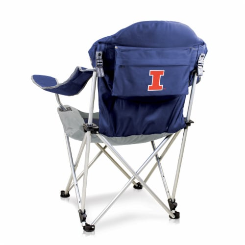 Illinois Fighting Illini - Reclining Camp Chair Perspective: front