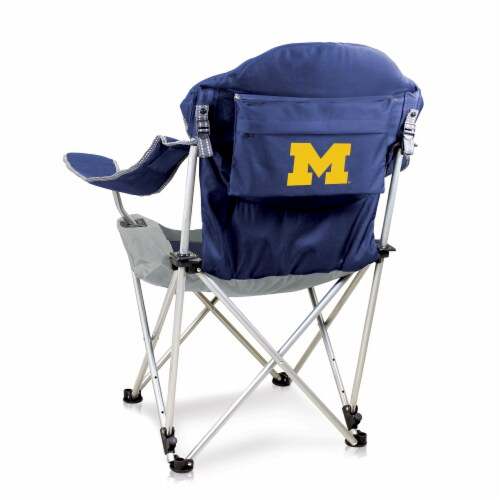 Michigan Wolverines - Reclining Camp Chair Perspective: front