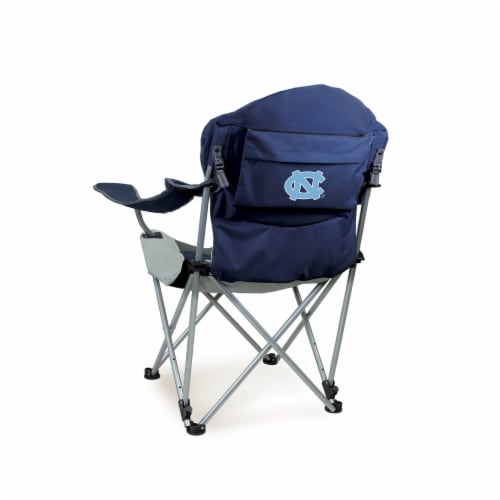 North Carolina Tar Heels - Reclining Camp Chair Perspective: front