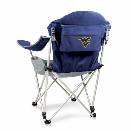 West Virginia Mountaineers - Reclining Camp Chair Perspective: front