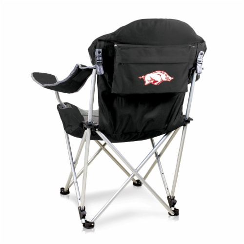 Arkansas Razorbacks - Reclining Camp Chair Perspective: front