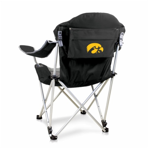 Iowa Hawkeyes - Reclining Camp Chair Perspective: front
