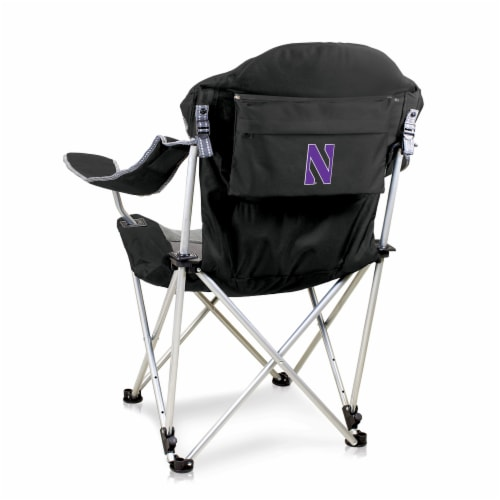 Northwestern Wildcats - Reclining Camp Chair Perspective: front