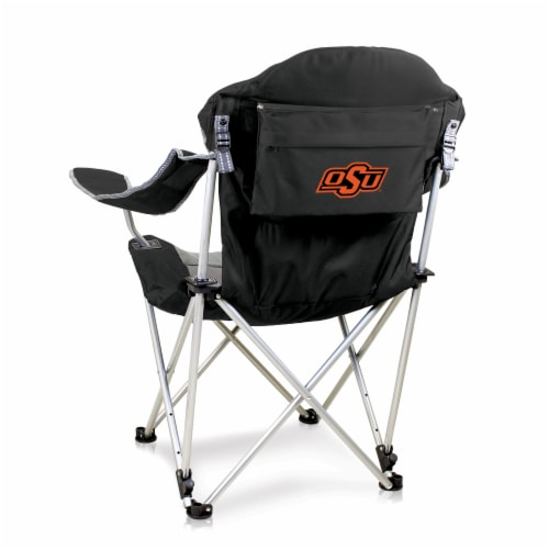 Oklahoma State Cowboys - Reclining Camp Chair Perspective: front