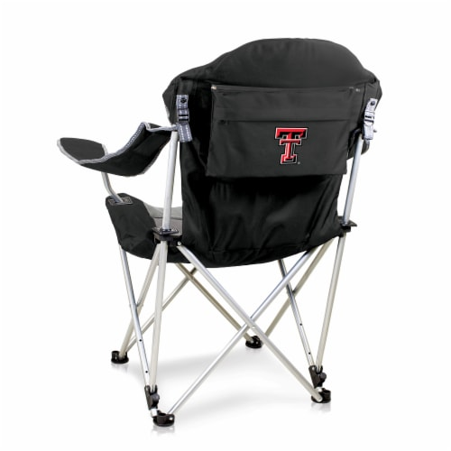 Texas Tech Red Raiders - Reclining Camp Chair Perspective: front