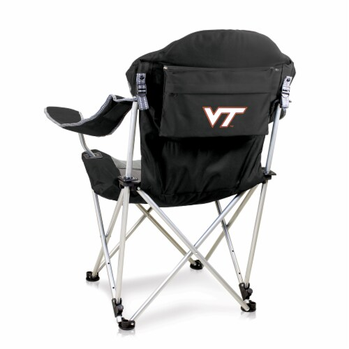 Virginia Tech Hokies - Reclining Camp Chair Perspective: front