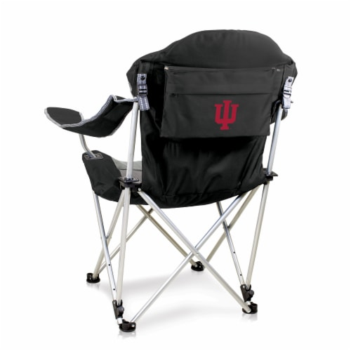 Indiana Hoosiers - Reclining Camp Chair Perspective: front