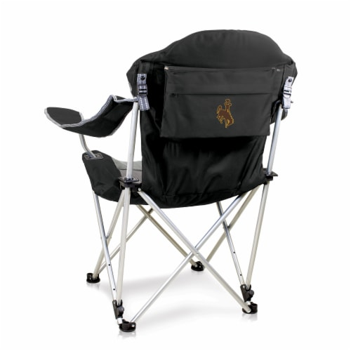 Wyoming Cowboys - Reclining Camp Chair Perspective: front