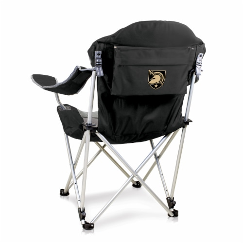 Army Black Knights - Reclining Camp Chair Perspective: front