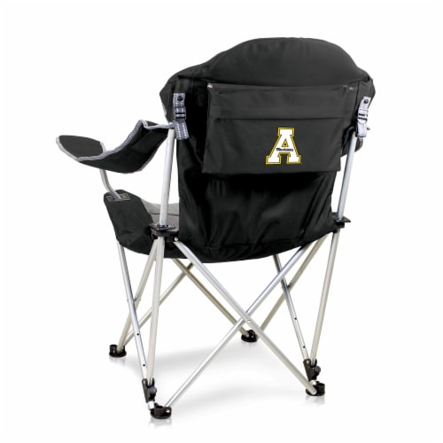 App State Mountaineers - Reclining Camp Chair Perspective: front