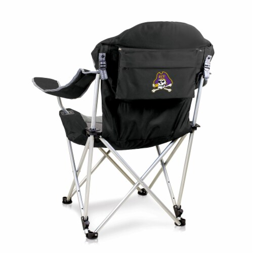 East Carolina Pirates - Reclining Camp Chair Perspective: front